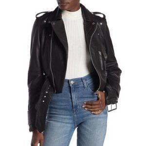 NWT Walter Baker Annie Leather Moto Jacket M